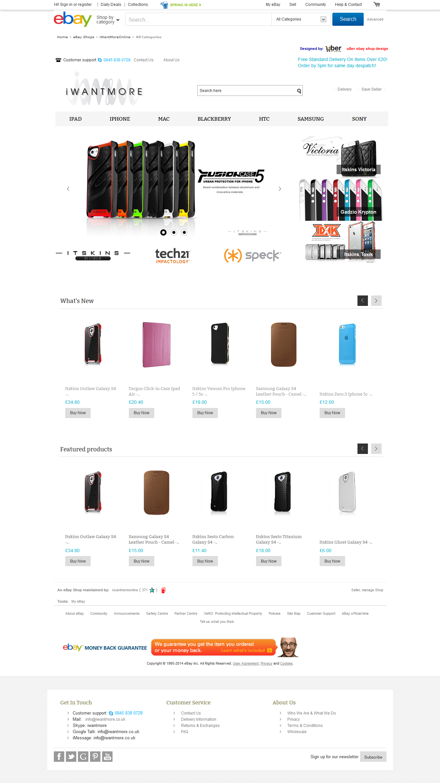 Iwantmoreonline ebay shop design