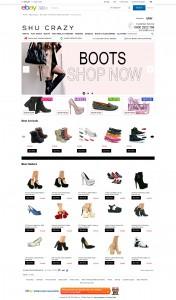 Shu Crazy ebay store design