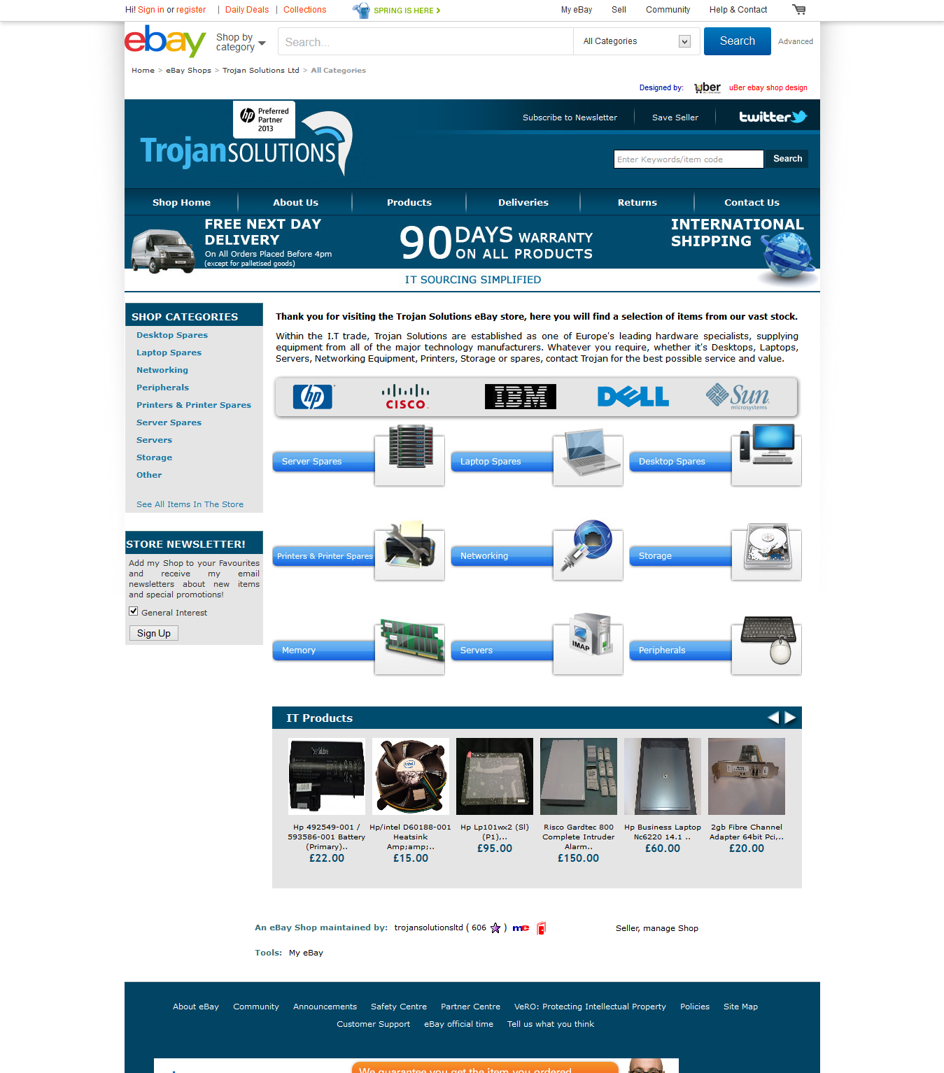Trojan Solutions Ltd ebay shop design