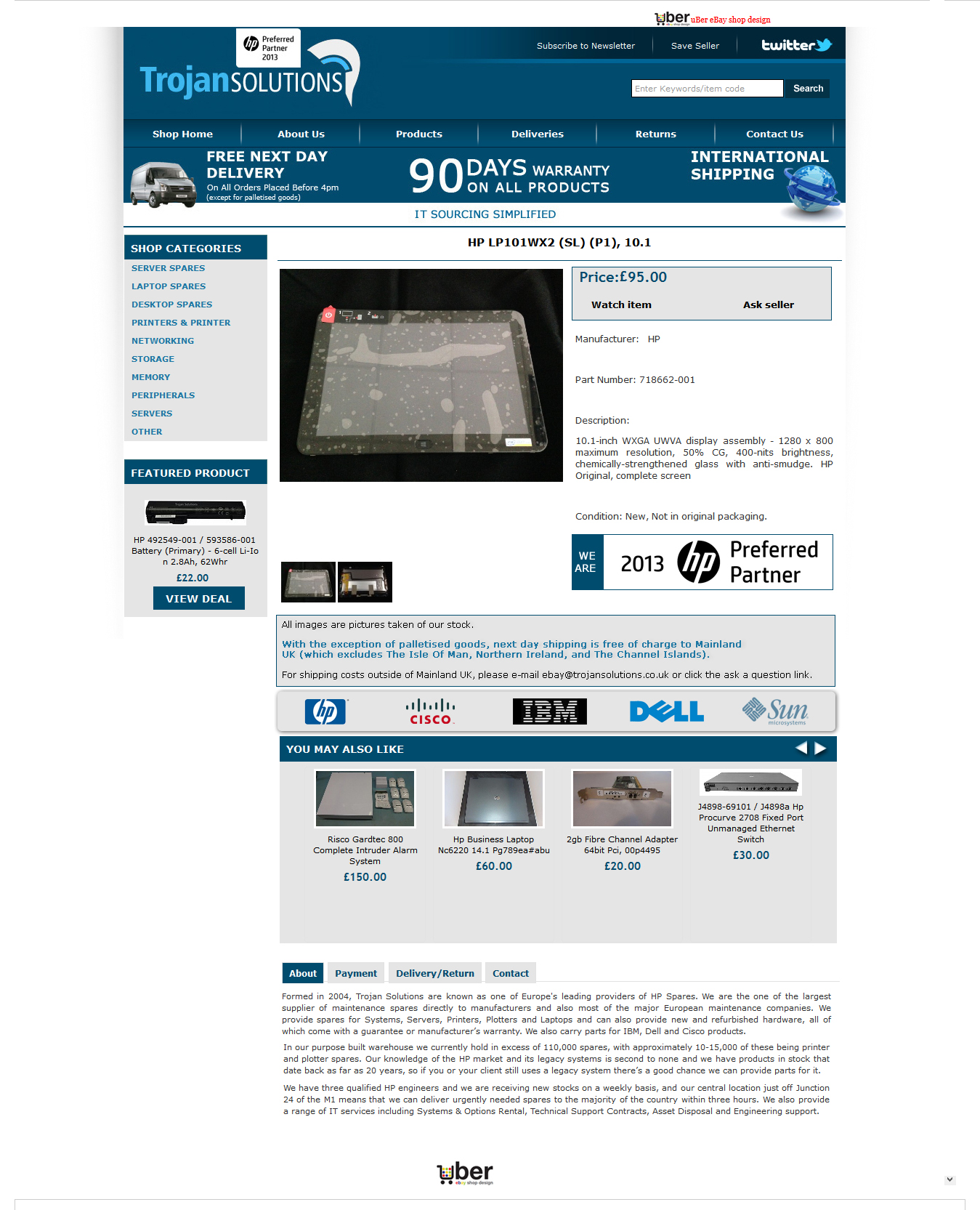 Trojan Solutions ebay item page