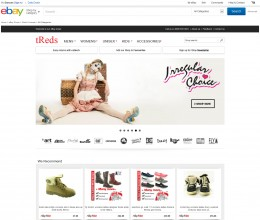tReds footwear ebay store design
