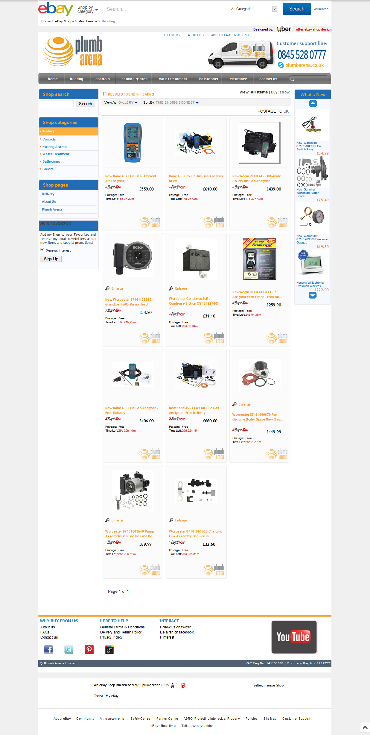 Plumbarena ebay shop design category view