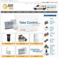 Plumbarena-ebay_store-design_home_page