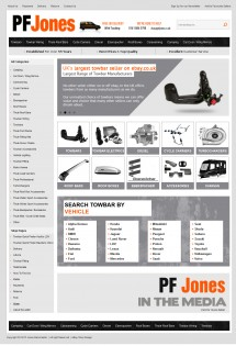 PF Jones ebay store design