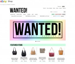 WANTEDBAGS store design on eBay