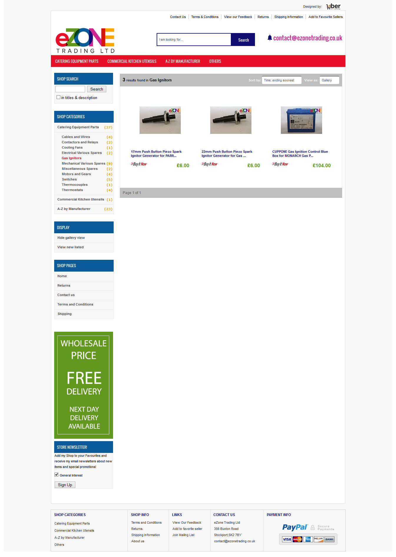 eZoneTrading ebay category design