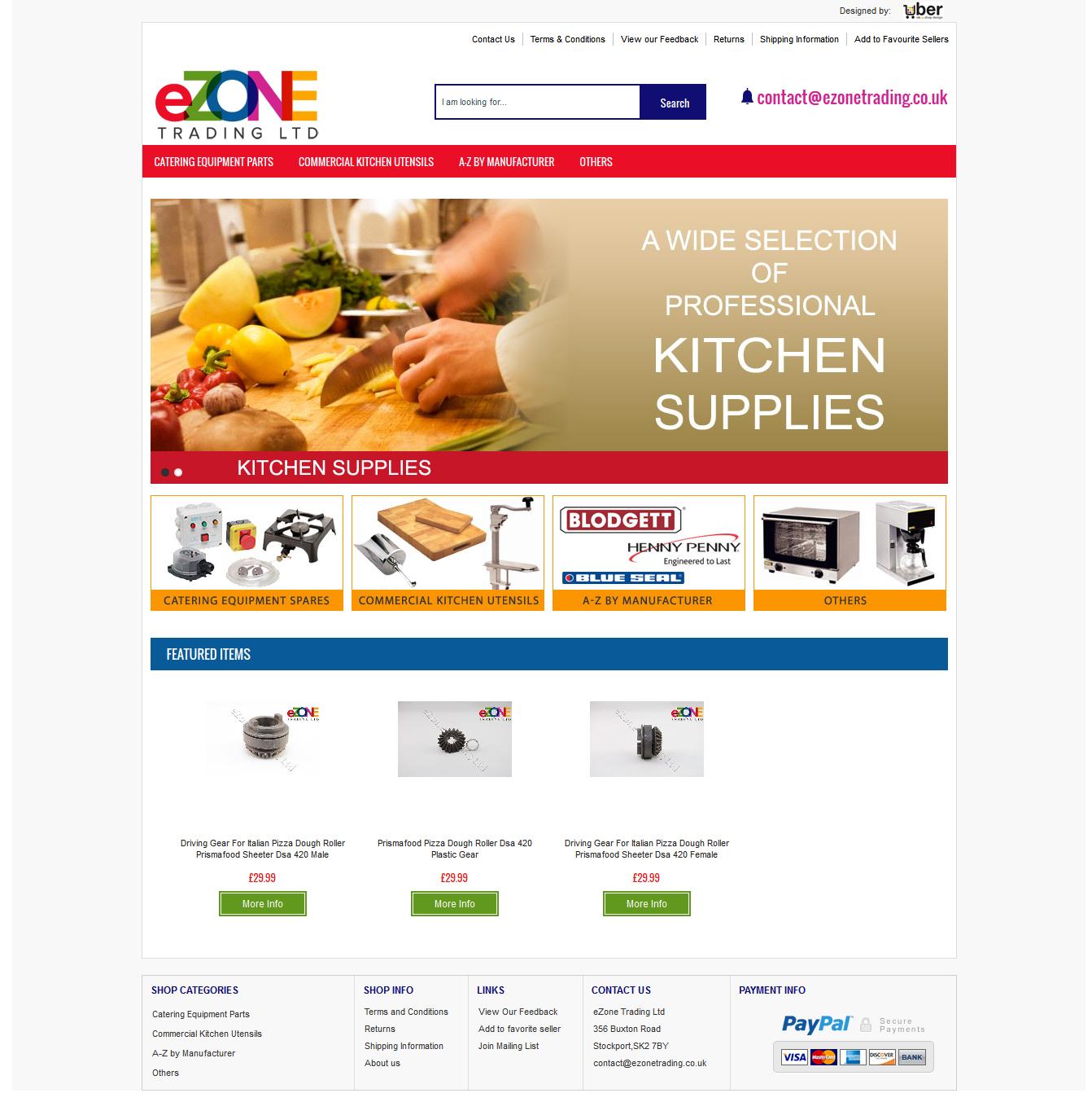 eZoneTrading ebay shop front design