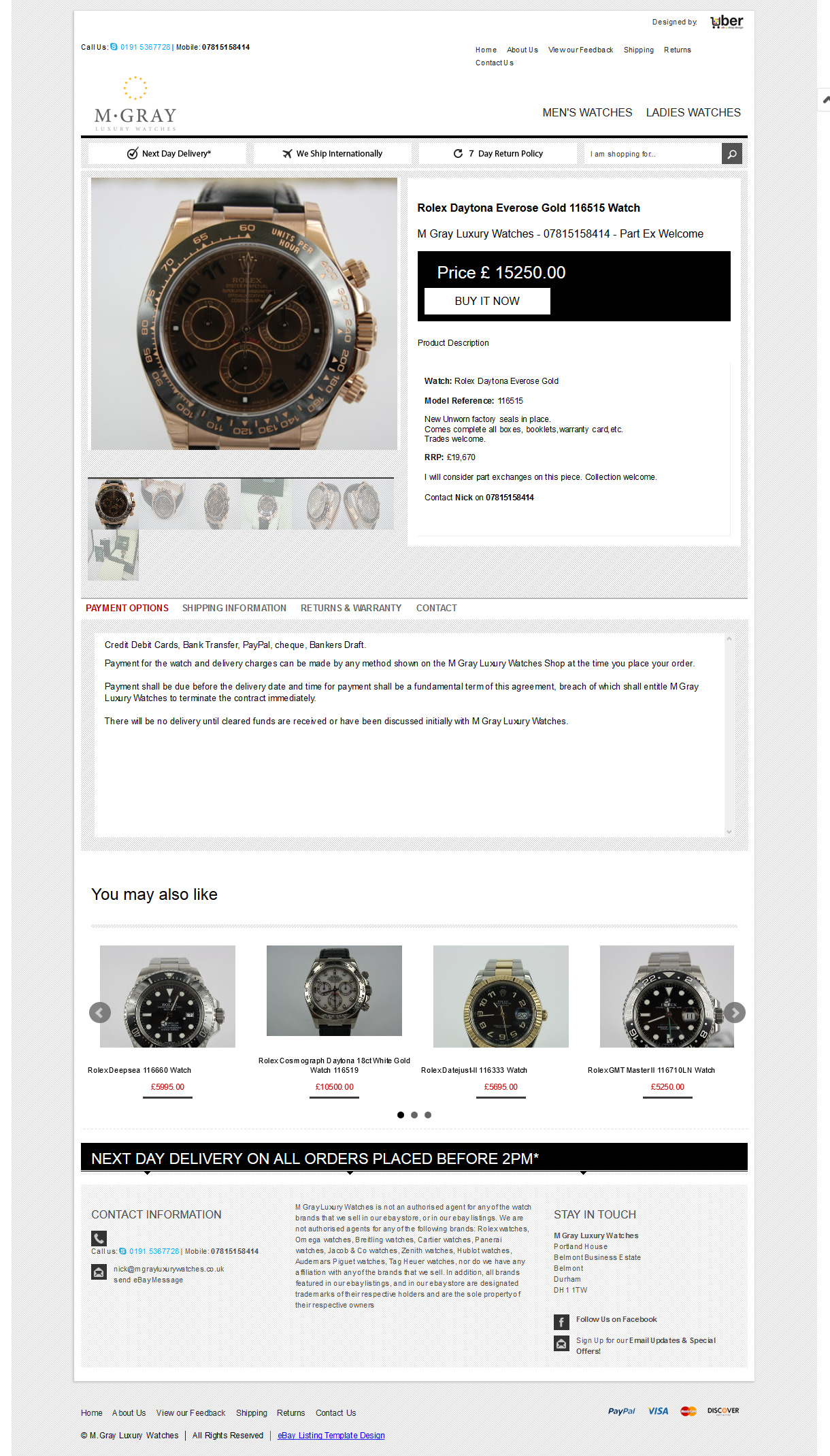 m gray luxury watches ebay shop design item template desktop