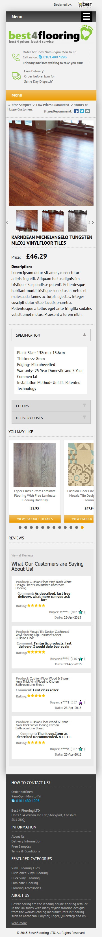 Best 4 flooring ebay item template mobile responsive