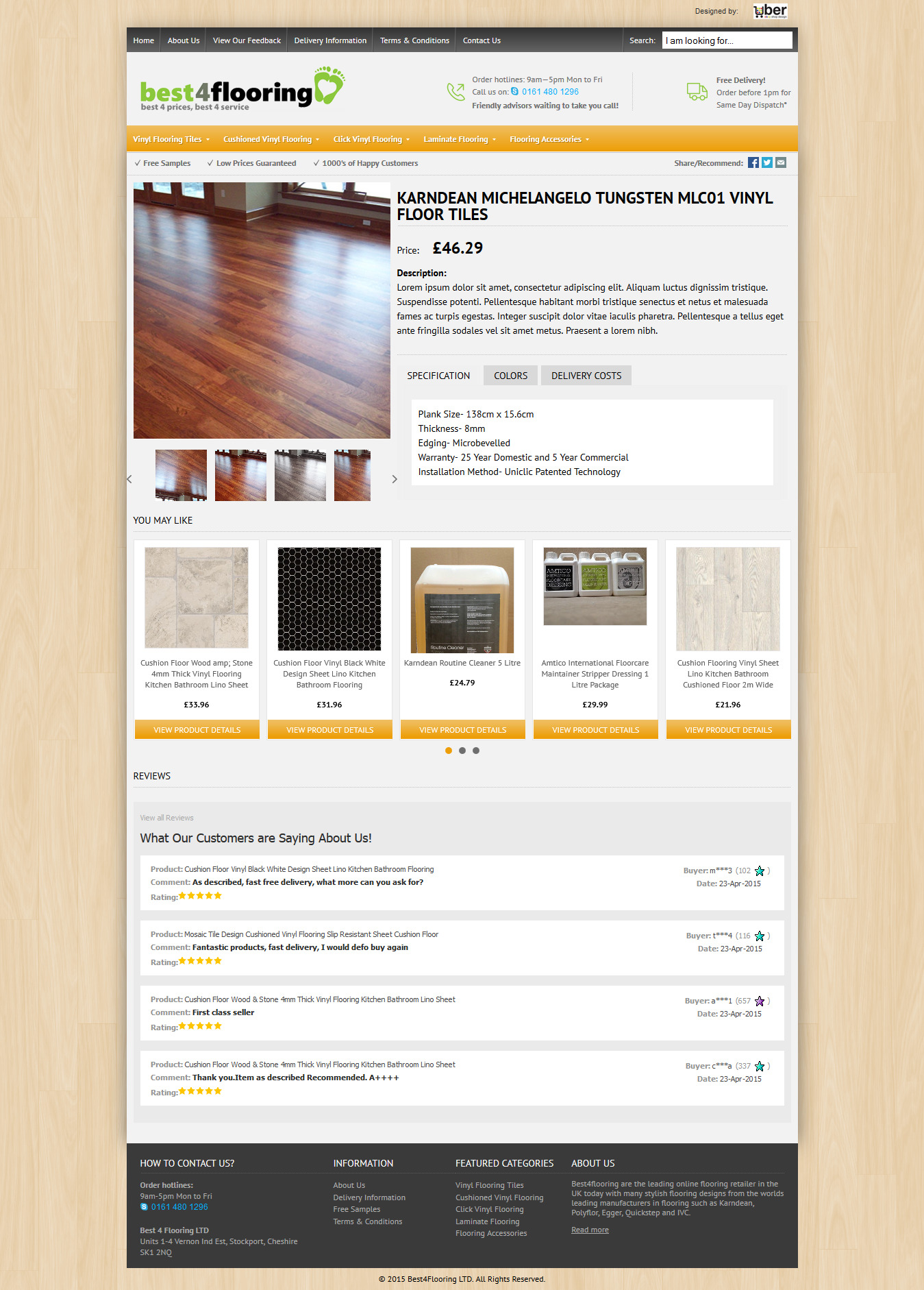 Bestflooring Ebay Shop Design Project - Ebay item template