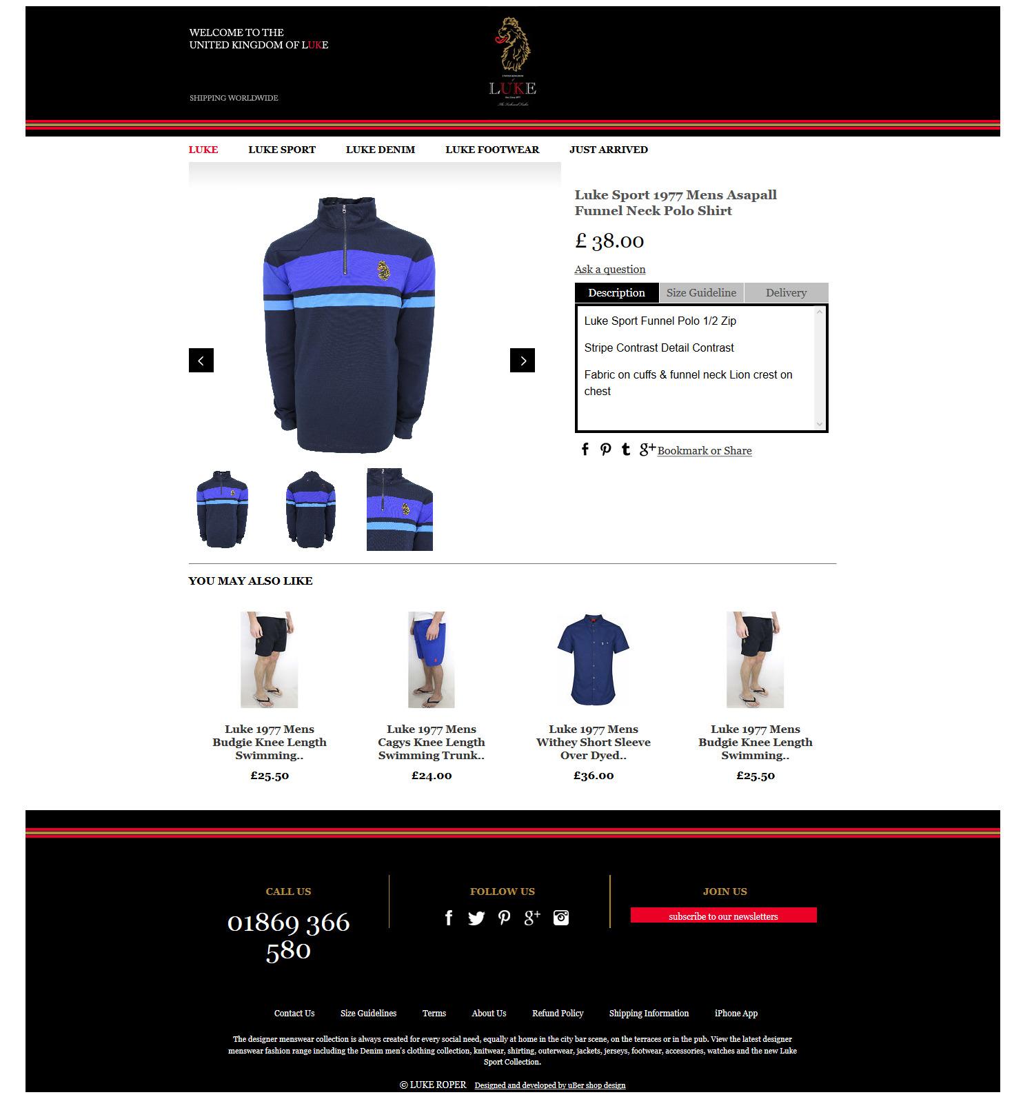 Luke Sport 1977 Mens Asapall Funnel Neck Polo Shirt - eBay 2015-07-07 11-48-58