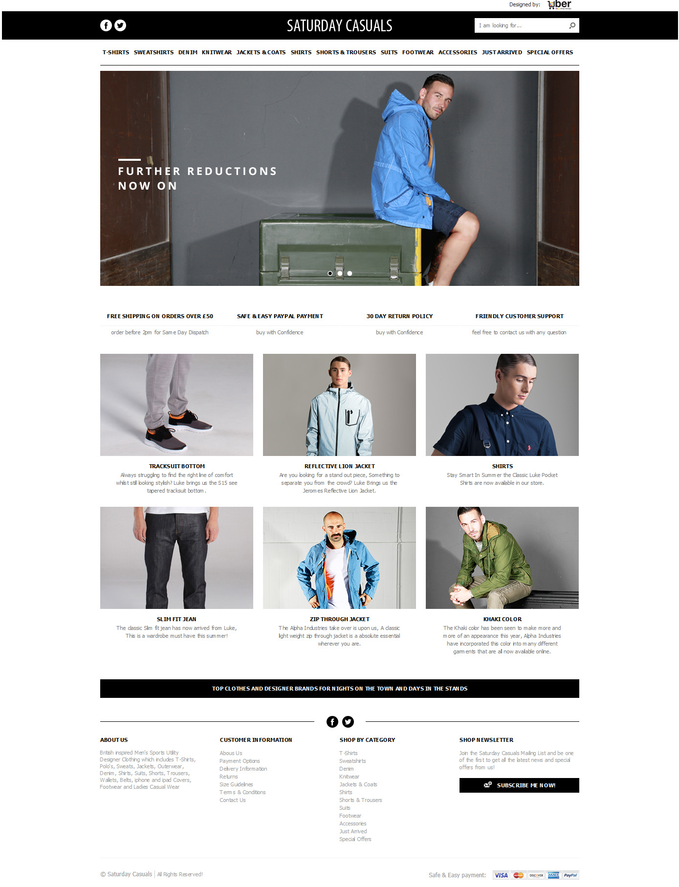 Saturday Casuals home page shop design ebay
