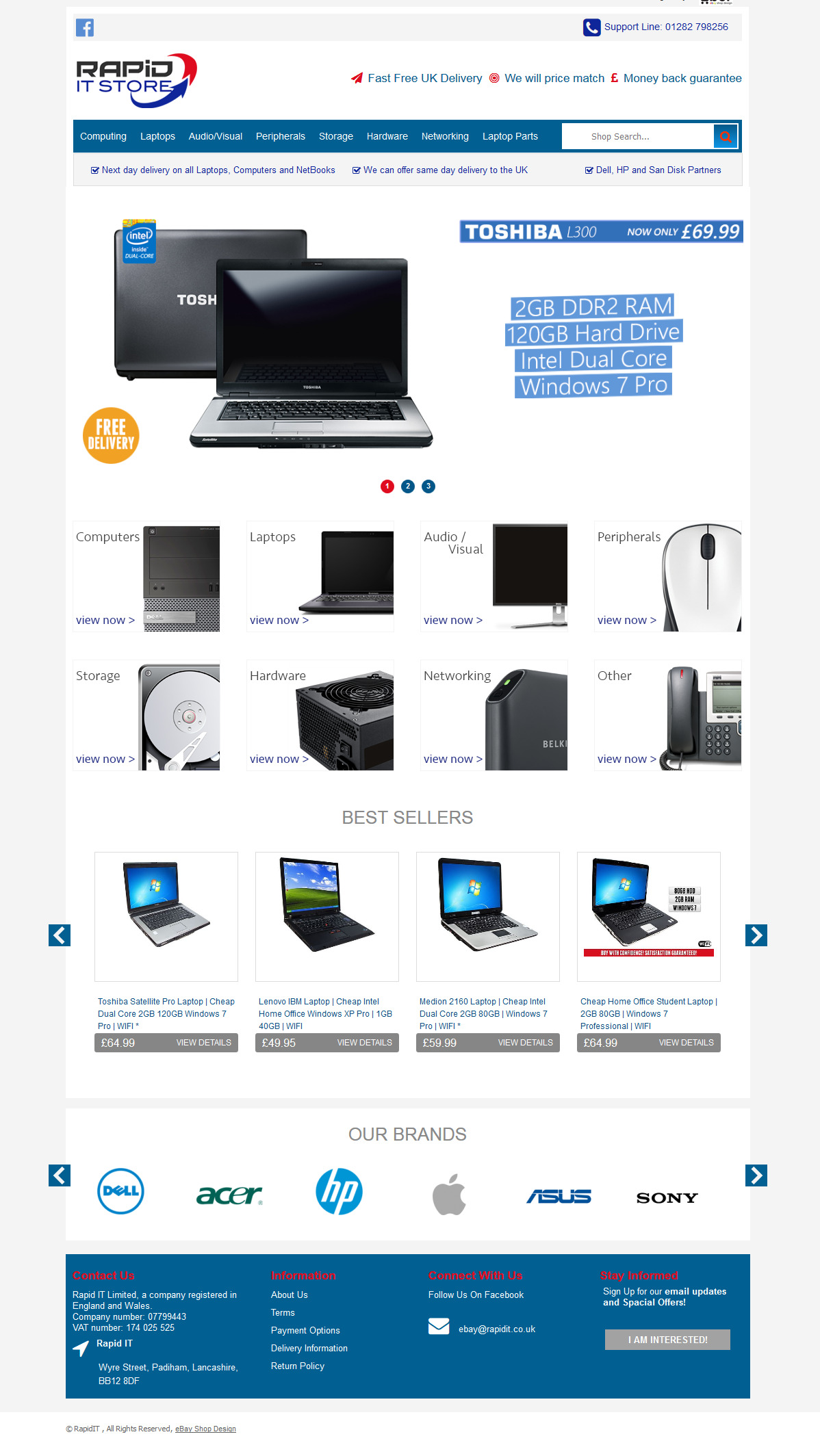 Rapid IT store storefront design