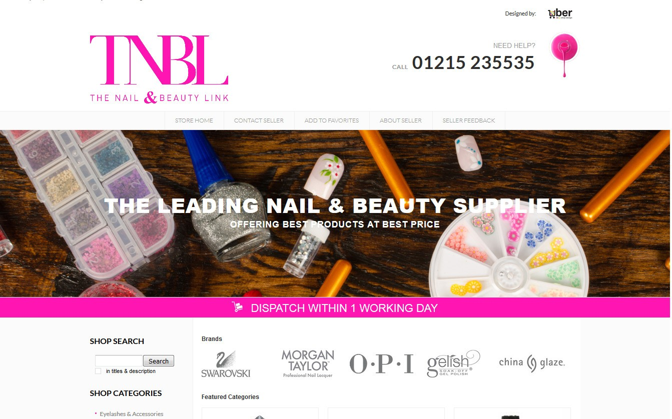 TNBL nail and beauty storefront