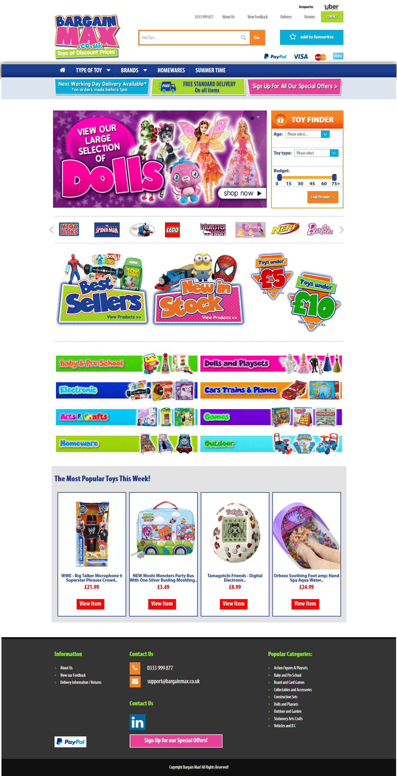 Bargain Max online shop view