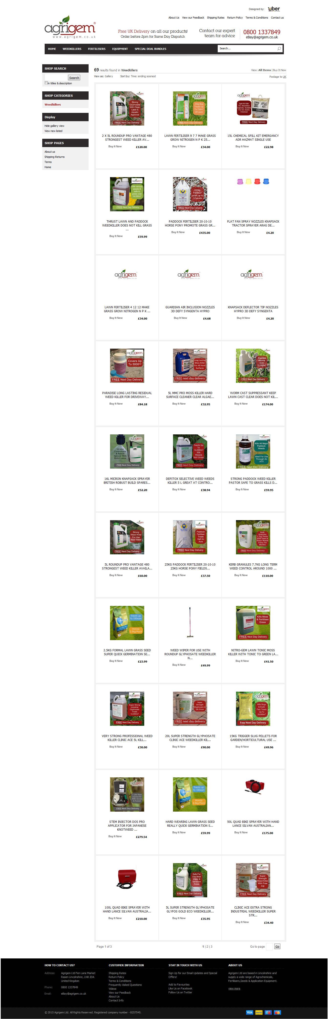 Agrigem category pageview